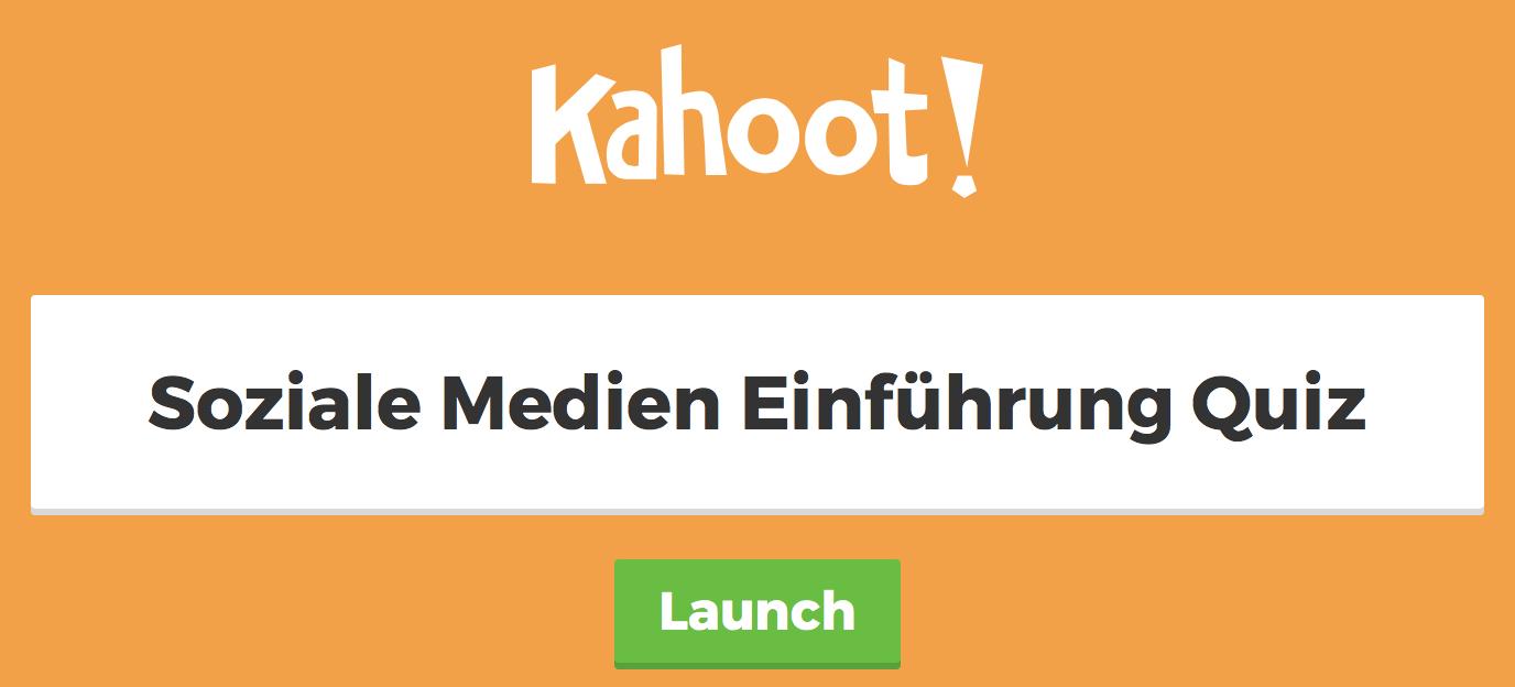 Kahoot_Soziale Medien_Einführung