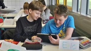 Die Kinder arbeiteten gespannt und mit einer großen Freude mit den Apps.