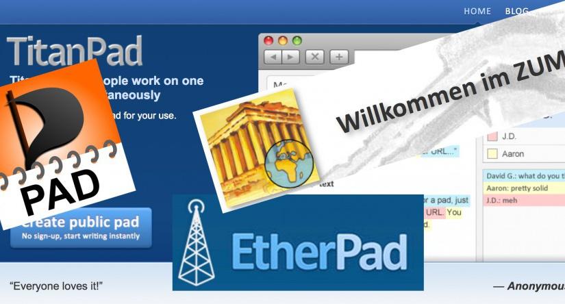 Kollaboratives Schreiben mit Etherpads